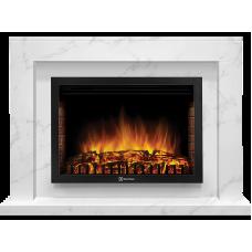 Портал Firelight Simple 25 белый мрамор серии Simple